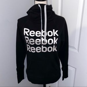 Reebok Triple Logo Cowl Neck Hoodie
